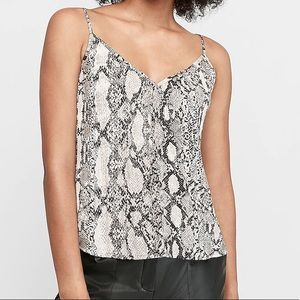 Express | Snakeskin Print Pleated Top